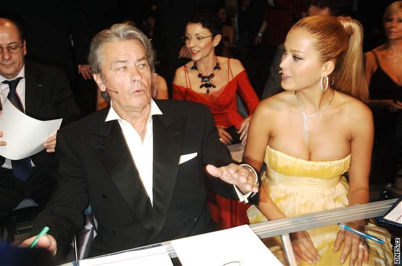 Porotci Alain Delon a Petra Němcová na finále České Miss 2008