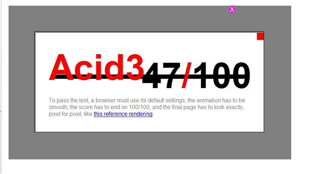 Acid3 test - Opera 9.23