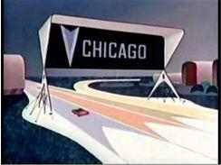Jak měly podle představ v roce 1958 vypadat dálnice budoucnosti?