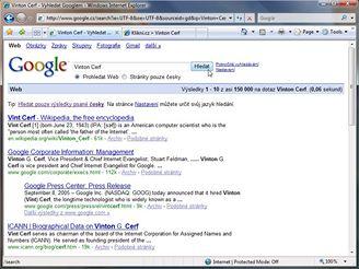 Vinton Cerf - hledání Google