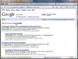 Erazim Kohák - hledání Google