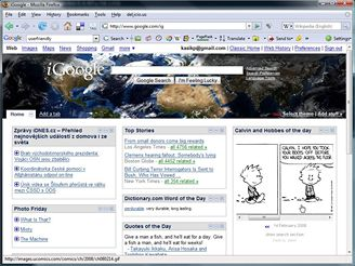 iGoogle Homepage - téma Live Planet