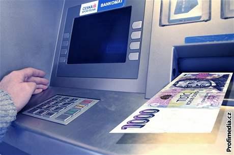 bankomat, ilustrace