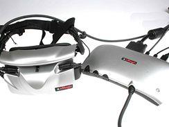 Stereoskopické 3D brýle eMagin Z800 včetně řídícího členu