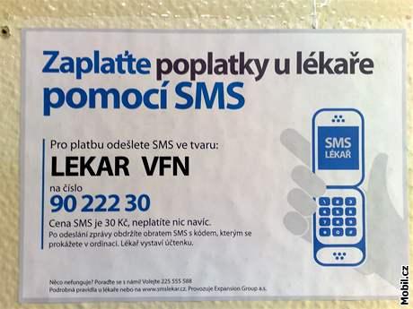 SMS platby u lékaře