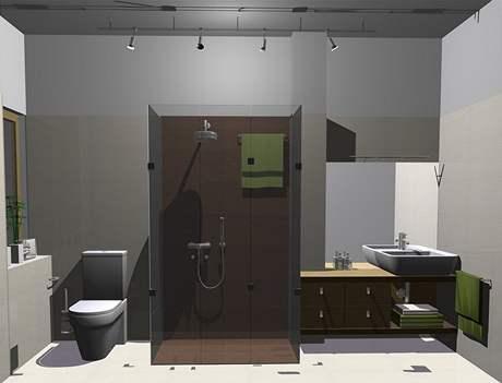 Rekonstrukce koupelny - varianta sprchový kout