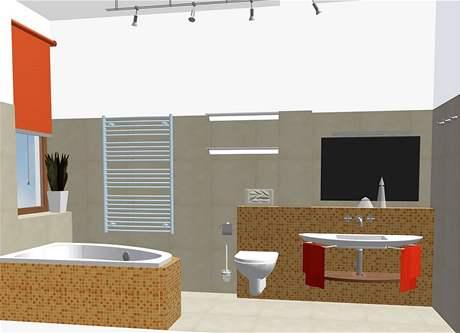 Rekonstrukce koupelny - varianta s vanou