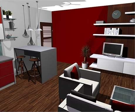 Obývací kuchyně: druhá varianta