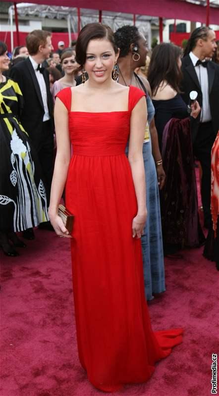Miley Cyrusová na předávání filmových cen Oscar