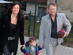 Jiří Adamec s manželkou a synem Danielem