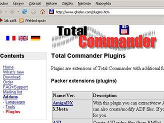 Doplňky do Total Commander