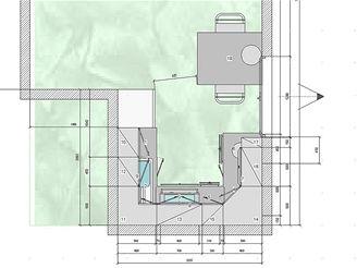 Tři návrhy kuchyňské linky - VARIANTA 2