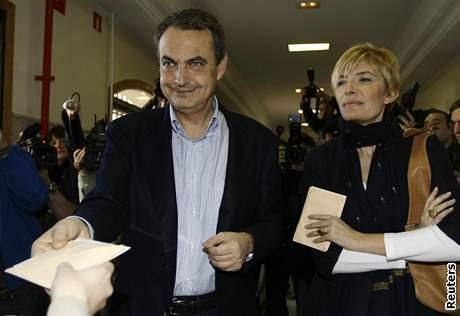 Španělský premiér José Luis Zapatero s manželkou