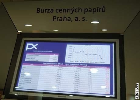 Burza cenných papírů Praha, obchodování, akcie, PX