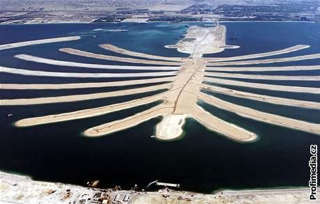 Umělý ostrov Palm Island v Dubaji
