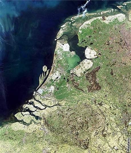 Holandský ostrov ve tvaru tulipánu
