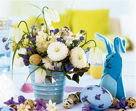 Originální velikonoční kytice na váš stůl