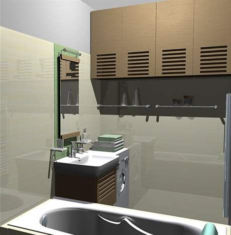 Rekonstrukce malé koupelny - první návrh
