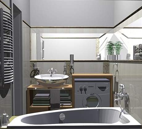 Rekonstrukce malé koupelny - druhý návrh