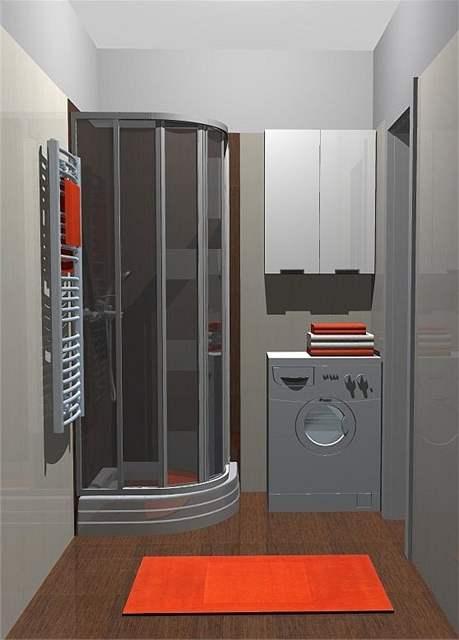 Rekonstrukce malé koupelny - čtvrtý návrh