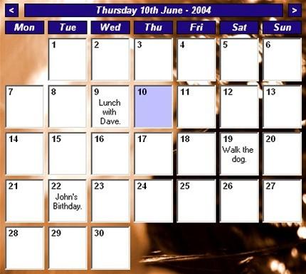 Desktop Calendar 7