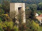 Hitlerova dálnice - Mostní pilíř Hitlerovy dálnice u Brněnské přehrady