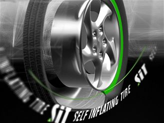 Samodohušťovací pneumatika