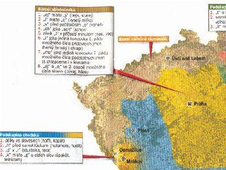 Mapa nářečí v ČR