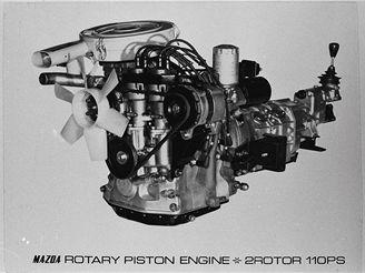 Rotační wankelův motor Mazdy