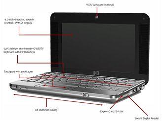 HP 2133 přehled možností