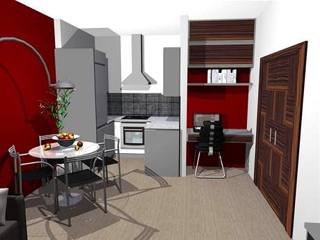 Rekonstrukce bytu - první varianta