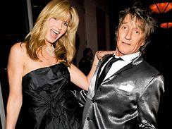 Rod Stewart s manželkou