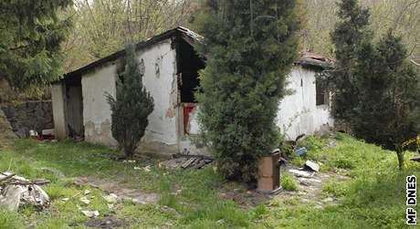 Vypálené chatky u Foltýnovy ulice v Brně