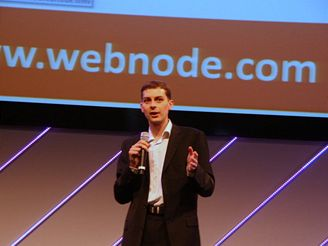 Vt Vrba prezentuje Webnode.com na The Next Web