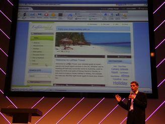 Vít Vrba prezentuje Webnode.com na The Next Web