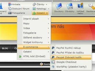 Webnode.com - PayPal