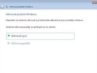 Aktivace Windows Vista