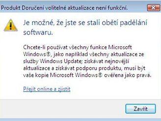 Varování ve Windows Vista