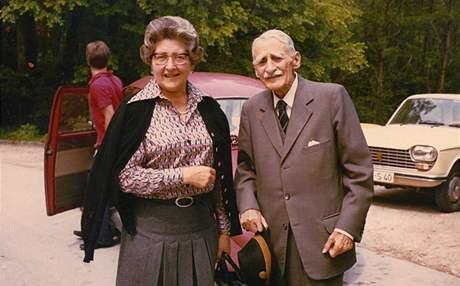 Marie-Henriette Seilernová se svým otcem Ladislavem. Snímek je z roku 1976.