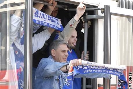 Fanoušci Baníku dorazili do Brna.