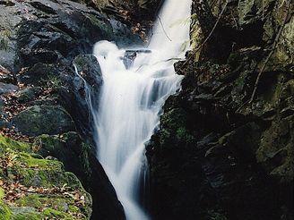 Umělý vodopád u Kutné Hory