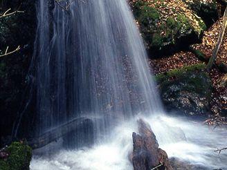 Vodopád na Českomoravské vrchovině