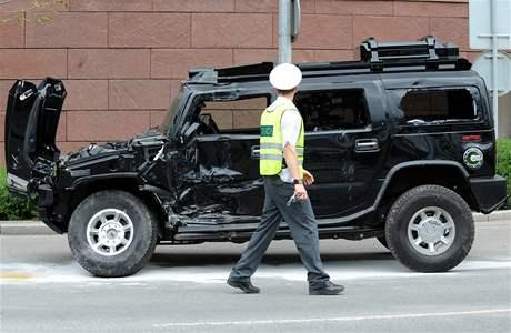 Nehoda během natáčení amerického velkofilmu G. I. Joe v centru Prahy