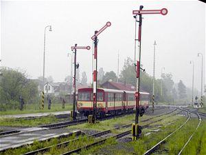P�vodn� za��zen� z trati Ostrava Svinov - Opava