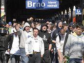 Příjezd fanoušků Baníku