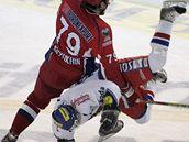 Utkání hrané na úzkém ledě bylo plné ostrých střetů