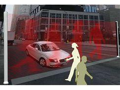 Virtuální zeď pomůže ochránit chodce na přechodu