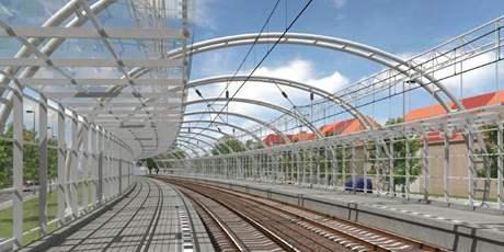 Vizualizace stanice Praha Liboc