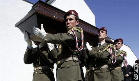 Pohřeb vojáka, který zahynul v Afghánistánu