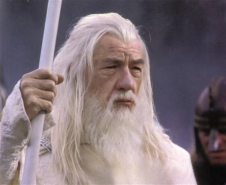 Ian McKellen v roli Gandalfa ve filmové trilogii Pán prstenů